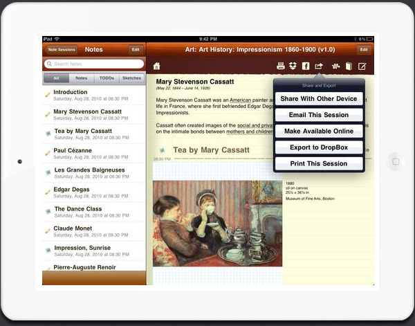 CourseNotes iPad education app