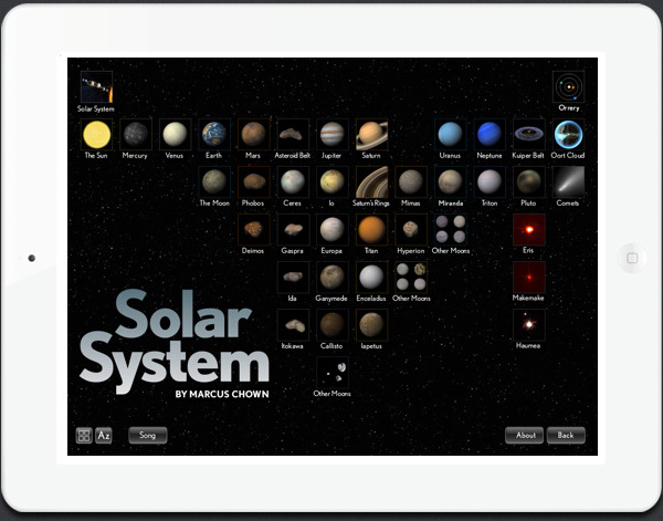 iPad app for education Solar Walk 3D