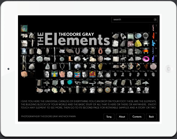 The Elements app for iPad