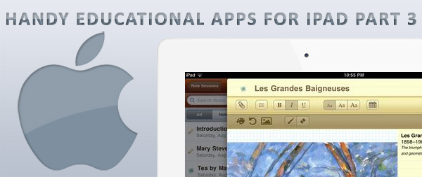 handy educational apps for iPad part 3