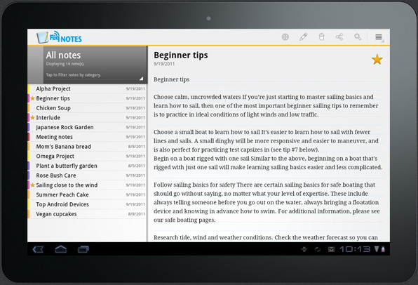 Featured Android App Fliq Notes Notepad