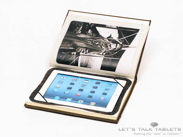 iPad 2 book case from ReAuthored in landscape mode