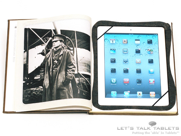 iPad 2 ReAuthored notebook case in portrait mode