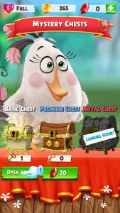 Angry Birds Match mystery chest screenshot