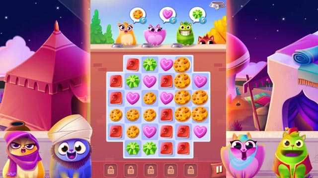 Cookie Cats match 3 game for Android screenshot