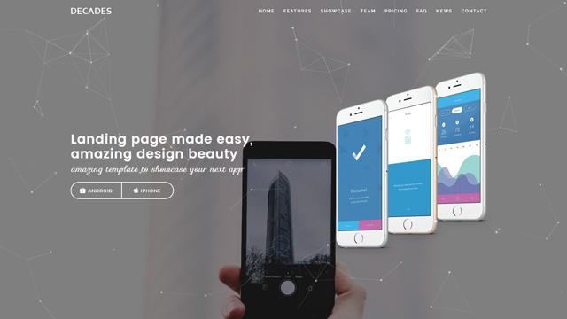 Decades App Showcase and App Store WordPress Theme