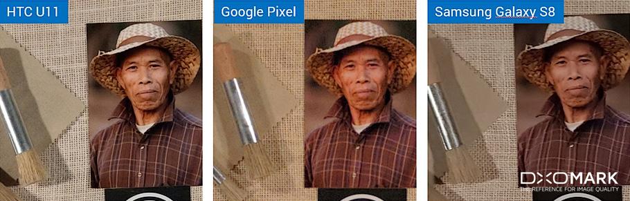 HTC U11 camera side by side comparison