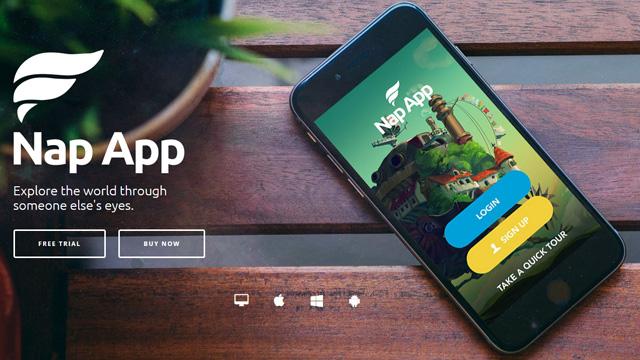 NapApp WordPress App Landing Page