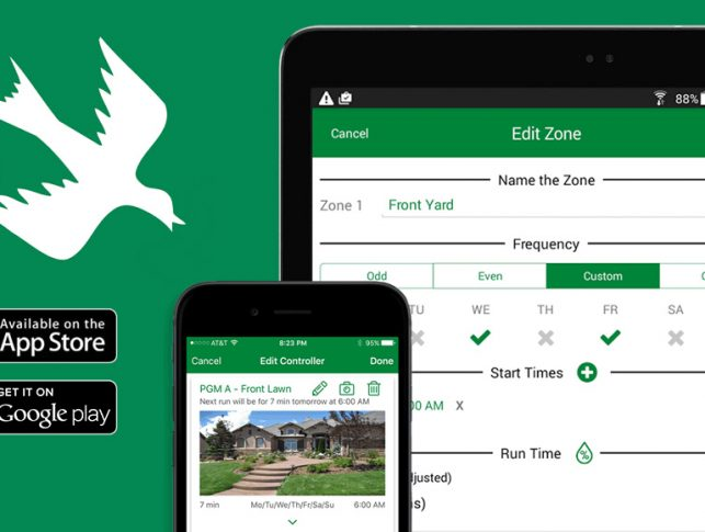 Smart watering made simple with Rain Bird mobile app