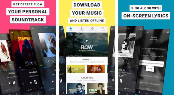 Deezer Android app
