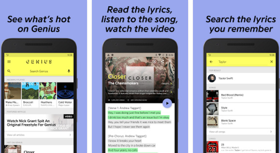 Genius Song Lyrics Android app