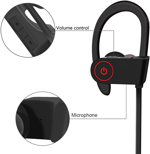 LUOBOD Waterproof Bluetooth V4.1 Sport Earbuds
