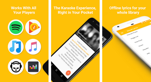 QuickLyric Android app to find song lyrics
