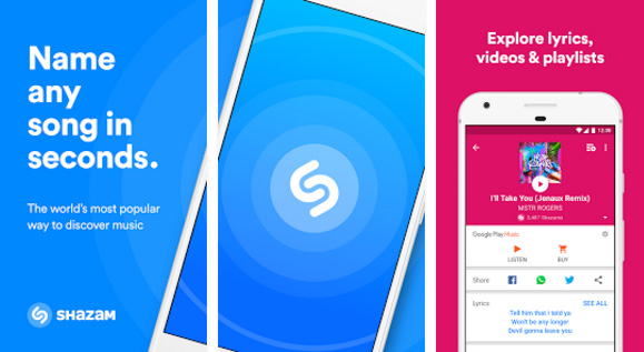 Shazam song lyrics app for Android