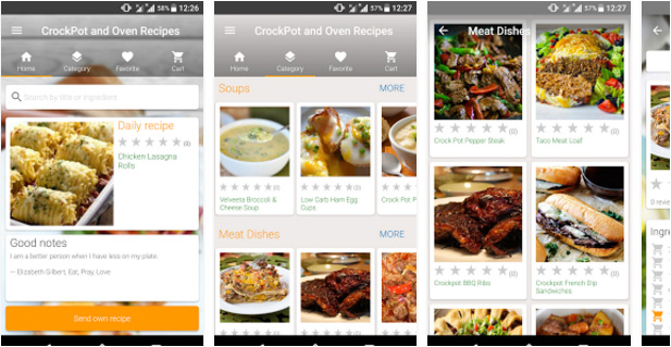 CrockPot and Oven Recipes Android app