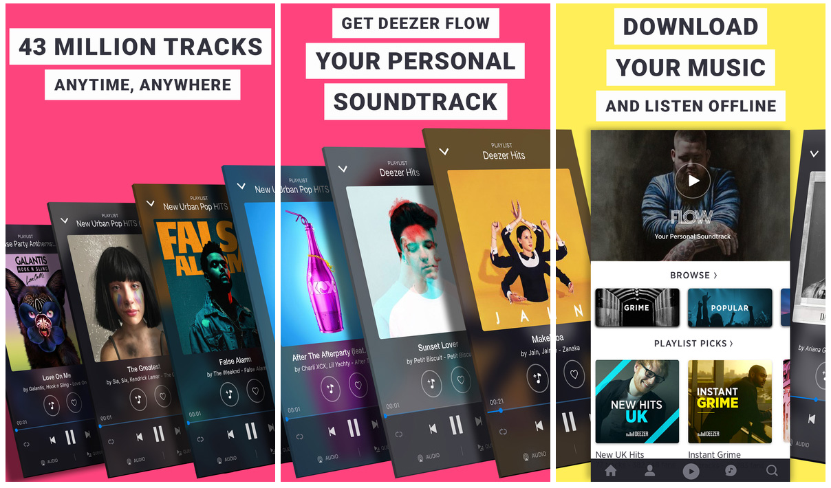 Deezer iOS music app