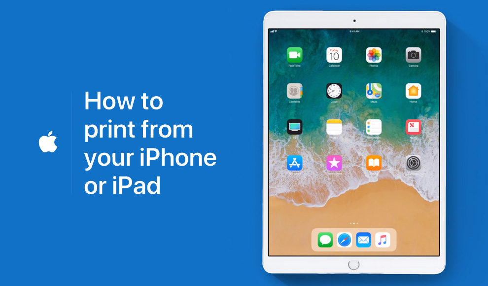Apple Support how to print from your iPad or iPhone YouTube video