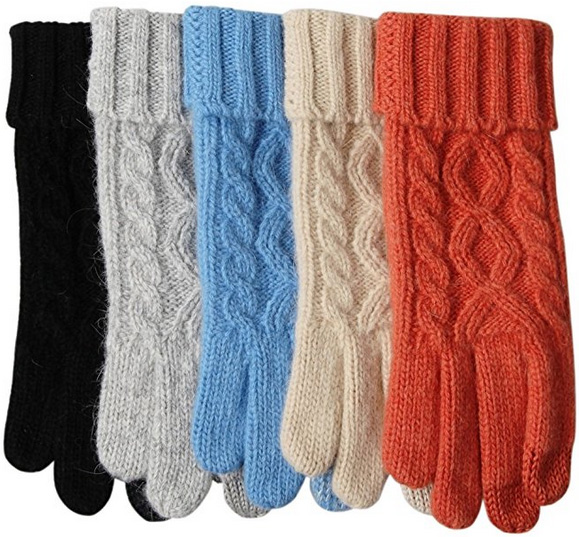 Thick Fleece Texting Friendly Gloves for Women