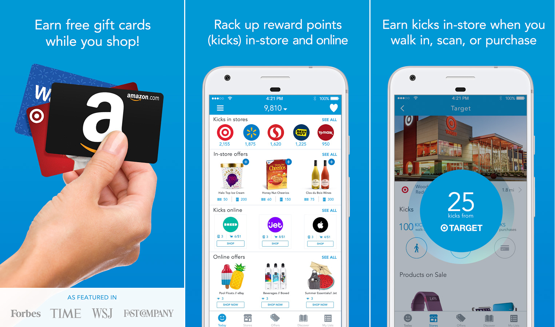 Shopkick Christmas shopping rewards Android app