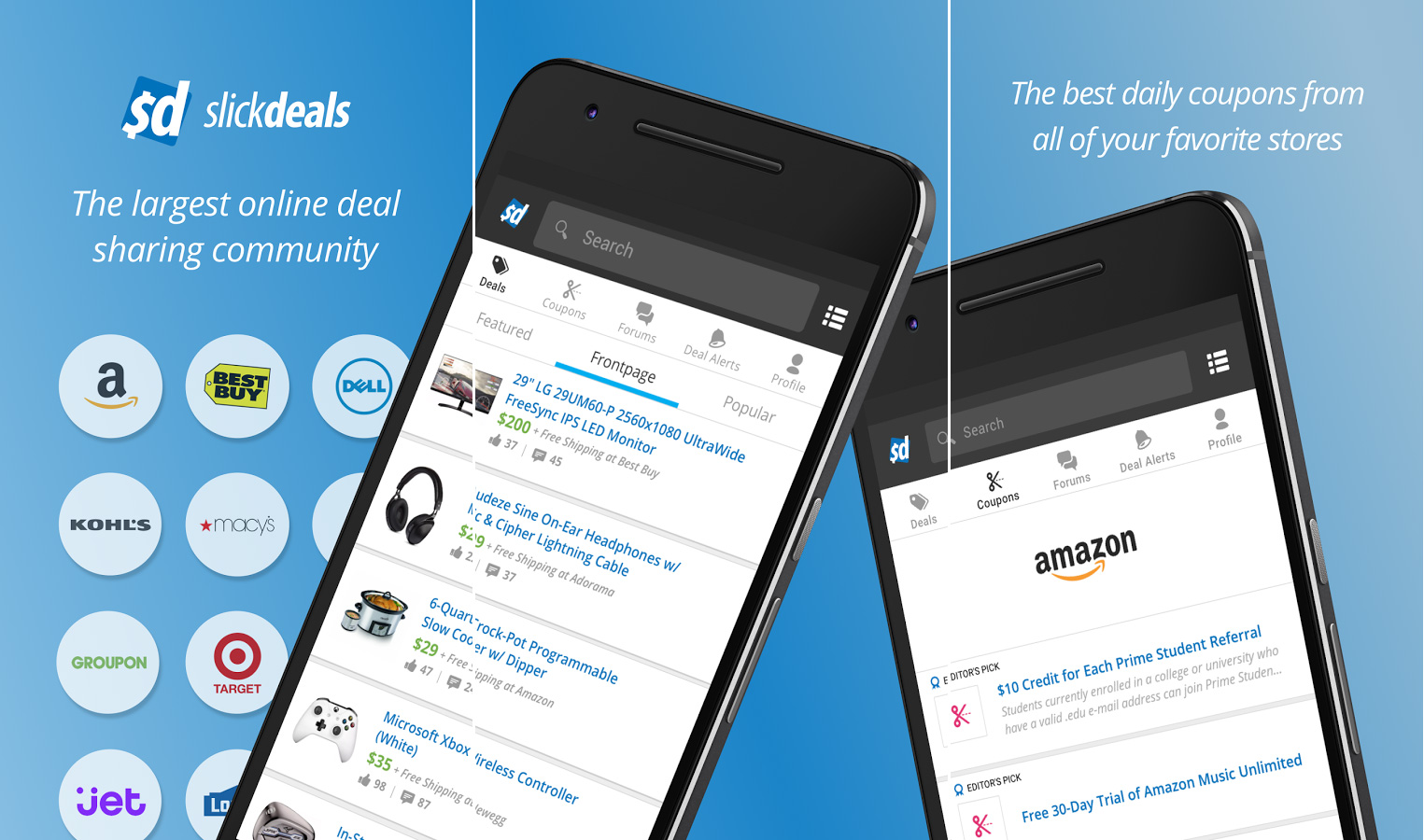Slickdeals coupons and shopping app for Android