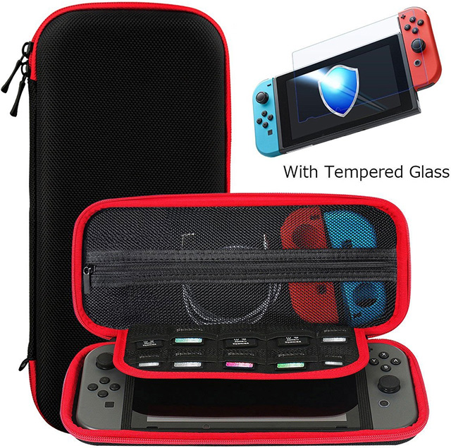 Ztotop Nintendo Switch Case and Tempered Glass Screen Protector
