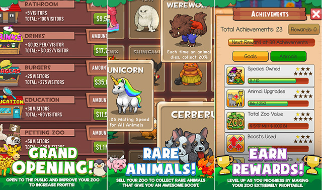 Idle Zoo Tycoon mobile game