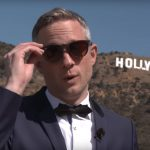 Simon Pierro displays new iPad magic tricks on Hollywood Walk of Fame