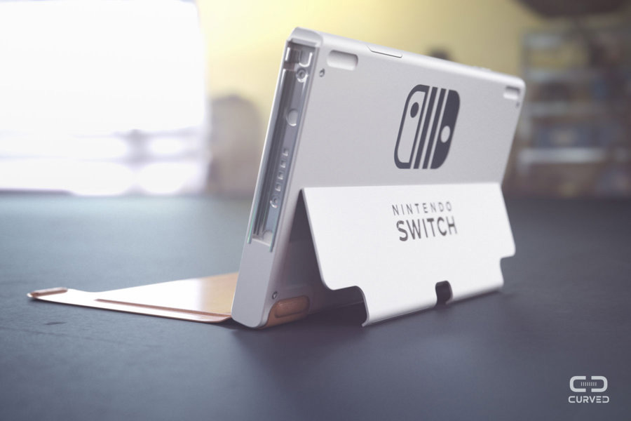 Curved Labs Nintendo Switch 2 Concept more robust kickstand